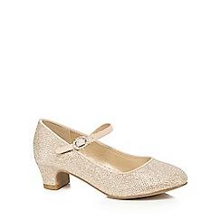 RJR.John Rocha - Girls' gold glittery heeled shoes