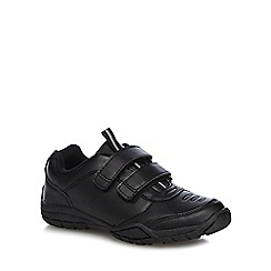 Debenhams - Boys' black scuff resistant school trainers