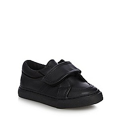 Debenhams - Boys' black tab school shoes