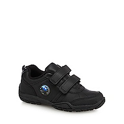 Debenhams - Boys' black scuff resistant leather light up school shoes