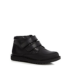 Debenhams - Boys' black scuff resistant leather school boots