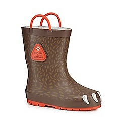 Mantaray - Boys' brown wellies