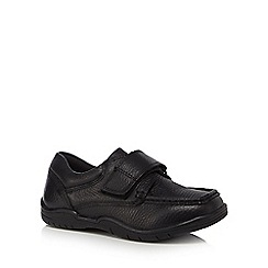 Debenhams - Boys' black scuff resistant lux leather tab school shoes