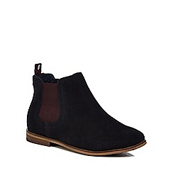 Baker by Ted Baker - Boys' navy suede Chelsea boots