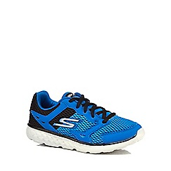 Skechers - Boys' blue lace up trainers