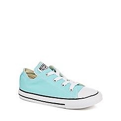 Converse - Girls' turquoise canvas 'Chuck Taylor' lace up trainers
