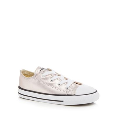 Converse - Girls' pink 'Chuck Taylor' lace up trainers