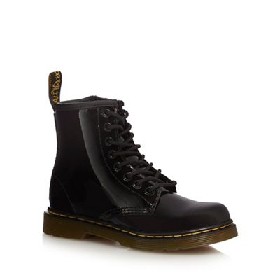 Dr Martens   Girls' Black 'delaney' Signature Boots by Dr Martens