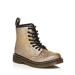 Dr Martens - Girls' gold 'Signature' boots