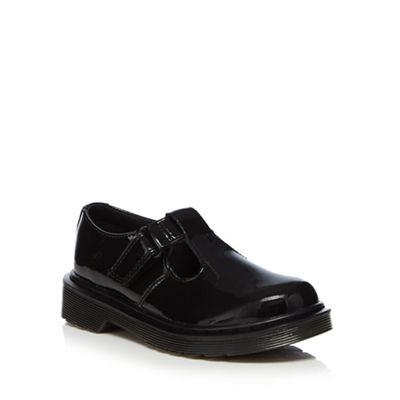 Dr Martens - Girls' black leather school shoes