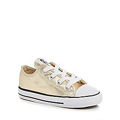 Converse - Girls' gold 'Chuck Taylor' lace up trainers