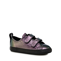 Converse - Girls' purple leather 'Chuck Taylor' trainers