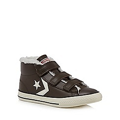 Converse - Boys' brown leather 'Star Player EV 3V' hi-tops