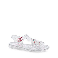 bluezoo - Girls' silver unicorn jelly sandals