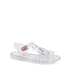 bluezoo - Girls' silver unicorn jelly sandals