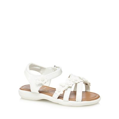 bluezoo - 'Girls' white patent ankle strap sandals