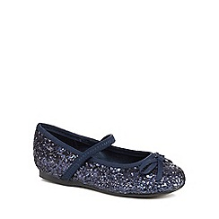 bluezoo - Girls' navy glitter pumps