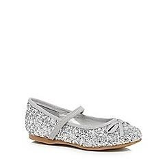 bluezoo - Girls' silver glitter pumps
