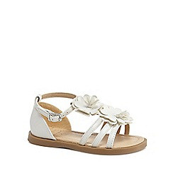 bluezoo - 'Girls' white ankle strap sandals