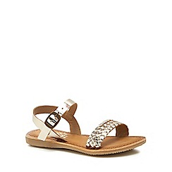 Mantaray - 'Girls' gold leather sandals