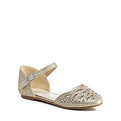 RJR.John Rocha - 'Girls' gold diamante ankle strap sandals