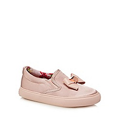 Baker by Ted Baker - 'Girls' pink satin slip-on trainers