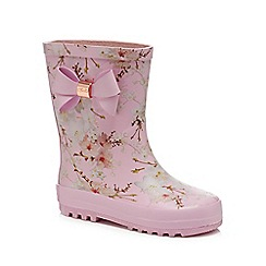 Baker by Ted Baker - 'Girls' pink wellies