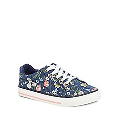 Mantaray - Girls' multi-coloured floral print trainers