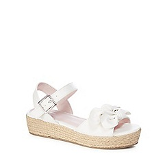 J by Jasper Conran - 'Girls' white sandals