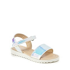 bluezoo - Girls' silver 'Wannabe' sandals