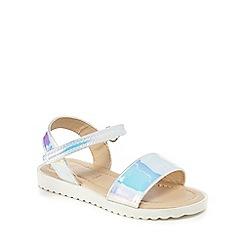 bluezoo - Girls' silver 'Wannabe' sandals