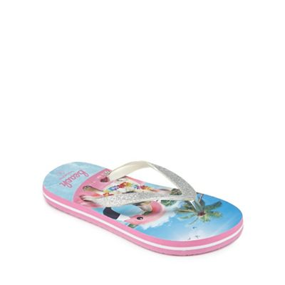 e6844b92f33d bluezoo Girls multi-coloured dog print flip flops