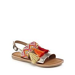 Mantaray - 'Girls' gold sandals