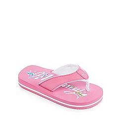 Mantaray - 'Girls' pink flip flops