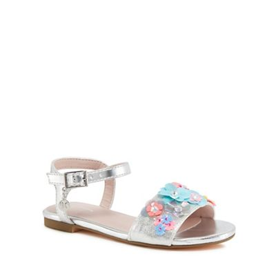 J by multi-coloured Jasper Conran - 'Girls' multi-coloured by floral sandals 995af5
