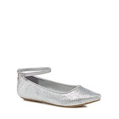 bluezoo - 'Girls' silver glitter pumps