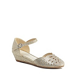 RJR.John Rocha - 'Girls' gold diamante ankle strap sandals