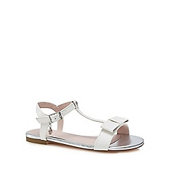 J by Jasper Conran - 'Girls' white bow sandals