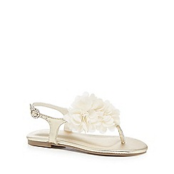 RJR.John Rocha - Girls' gold floral applique sandals