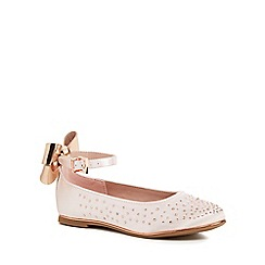 Baker by Ted Baker - Girls' pink diamante ankle strap pumps