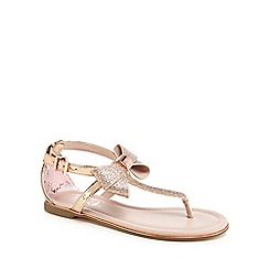 Baker by Ted Baker - 'Girls' gold glitter sandals