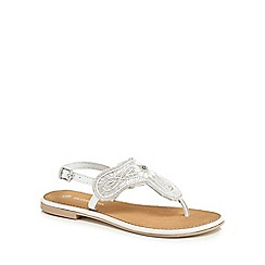 RJR.John Rocha - 'Girls' white bead embellished sandals