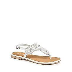 RJR.John Rocha - 'Girls' white bead embellished sandals
