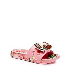 Baker by Ted Baker - 'Girls' pink flip flops