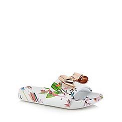 Baker by Ted Baker - Girls' white floral flip flops