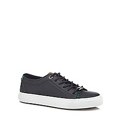 Baker by Ted Baker - Boys' navy lace up trainers