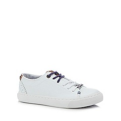 Baker by Ted Baker - Boys' white lace up trainers