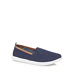 bluezoo - 'Boys' navy canvas slip-on trainers