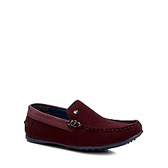 Baker by Ted Baker - Boys' dark red suede driver shoes