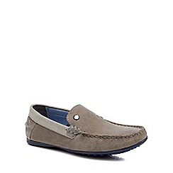 Baker by Ted Baker - Boys' grey suede driver shoes
